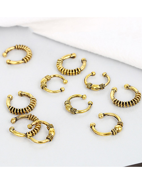 Fashion Antique Gold Pure Color Design Hair Accessories(10pcs)