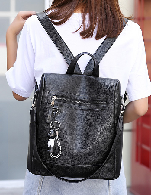 Elegant Black Pure Color Design Leisure Travel Bag