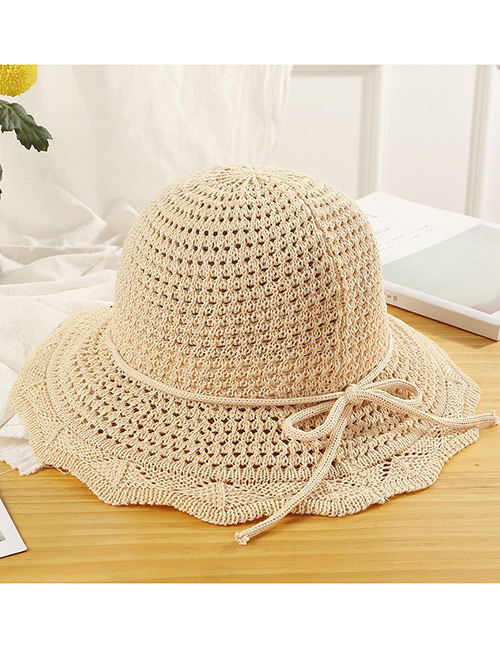 Trendy Beige Hollow Out Design Casual Fisherman Hat
