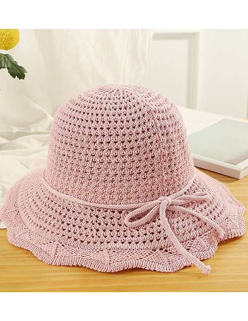 Trendy Pink Hollow Out Design Casual Fisherman Hat