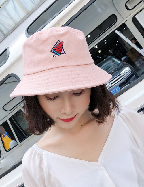 Fashion Pink Ice Cream Pattern Decorated Leisure Cap