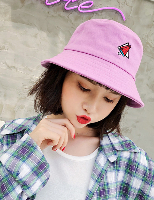 Fashion Light Purple Ice Cream Pattern Decorated Leisure Cap