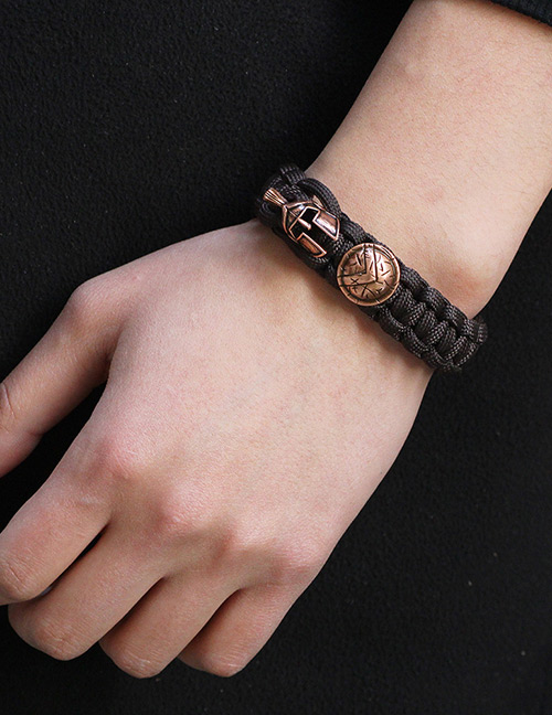 Fashion Brown Helmet&shield Decorated Simple Bracelet