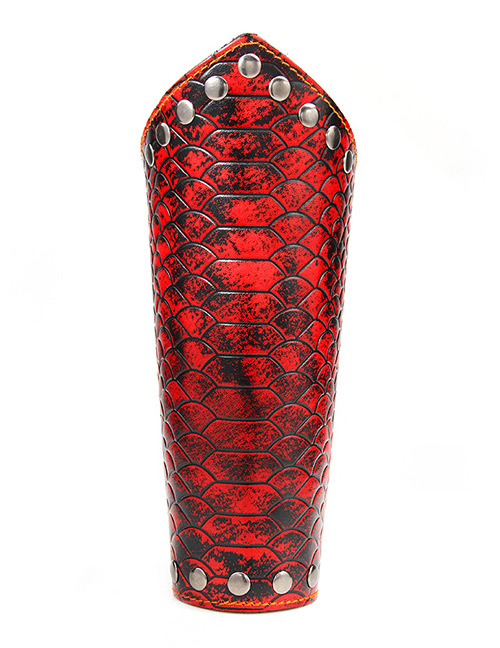 Fashion Red Serpentine Pattern Decorated Wrist Guard