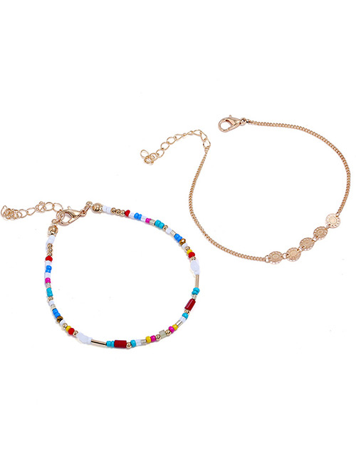 Fashion Multi-color Beads Decorated Color Matching Bracelet