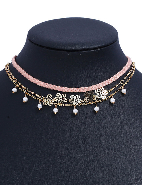 Fashion Multi-color Pearls&flower Decorated Multi-layer Necklace
