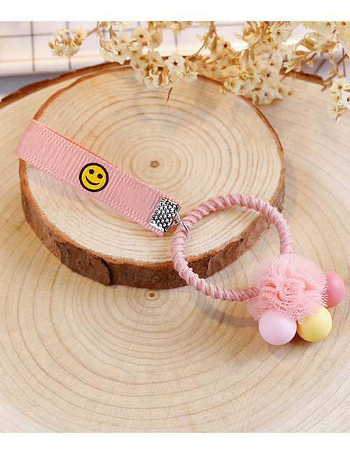 Lovely Pink+yellow Balls Decorated Child Hair Band(1pc)