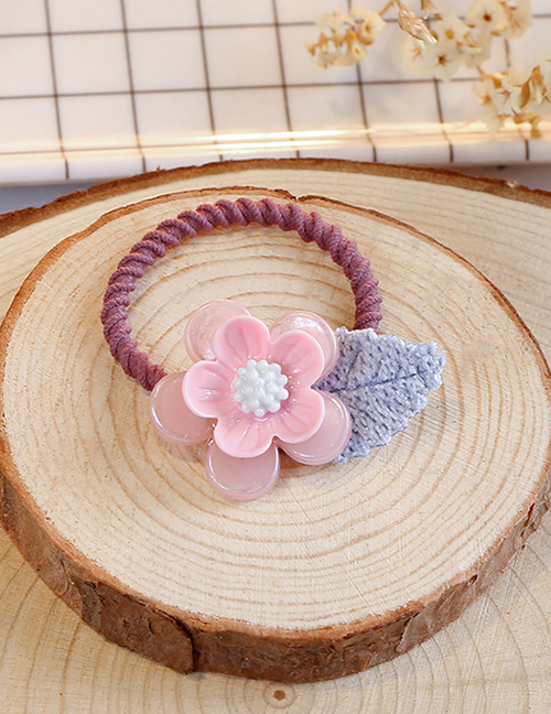 Lovely Pink+red Flower&leaf Decorated Child Hair Band(1pc)
