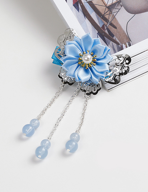 Lovely Blue Tassel&flowers Decorated Child Hair Clip