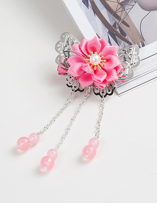 Lovely Pink Tassel&flowers Decorated Child Hair Clip