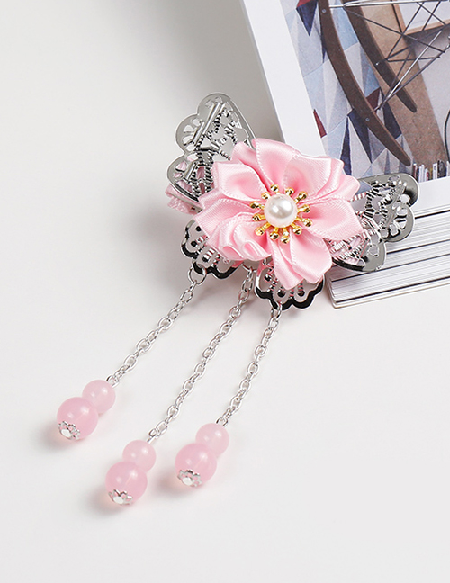 Lovely Light Pink Tassel&flowers Decorated Child Hair Clip
