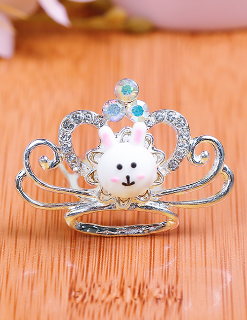 Lovely White Rabbit&crown Decorated Child Hair Hoop(small)