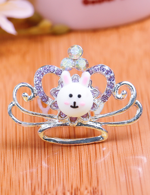 Lovely Purple Rabbit&crown Decorated Child Hair Hoop(small)