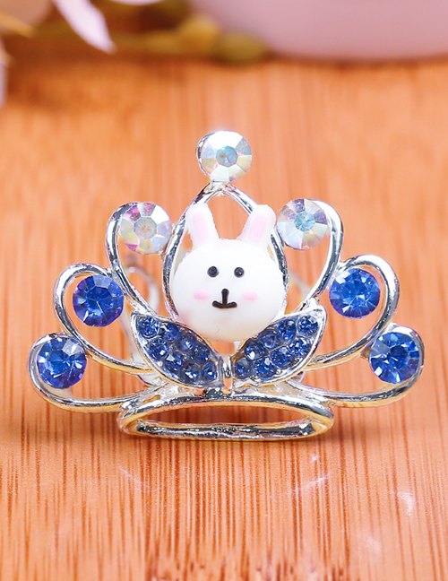 Lovely Sapphire Blue Rabbit&crown Decorated Child Hair Hoop(small)