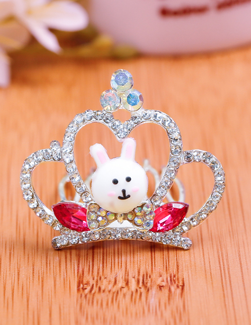 Lovely Plum Red Rabbit&crown Decorated Child Hair Hoop(small)