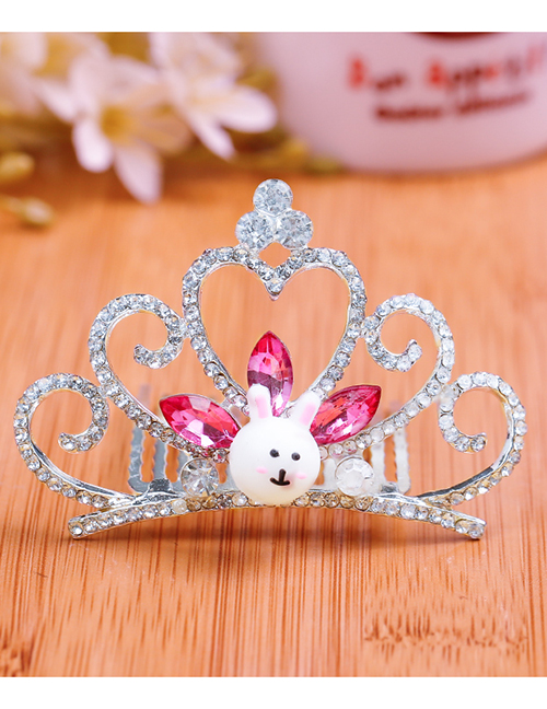 Lovely Plum Red Rabbit&crown Decorated Child Hair Hoop(large)