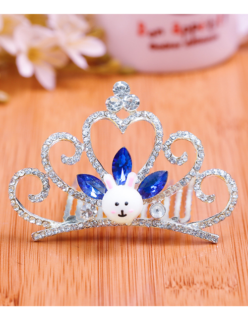 Lovely Sapphire Blue Rabbit&crown Decorated Child Hair Hoop(large)