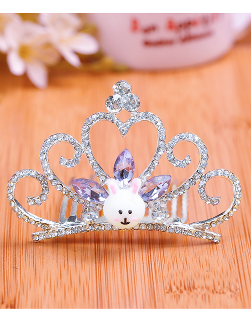 Lovely Purple Rabbit&crown Decorated Child Hair Hoop(large)