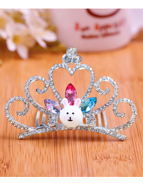 Lovely Multi-color Rabbit&crown Decorated Child Hair Hoop(large)