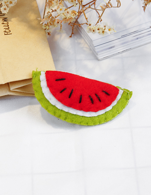 Lovely Red+green Watermelon Shape Design Child Hair Clip(1pc)