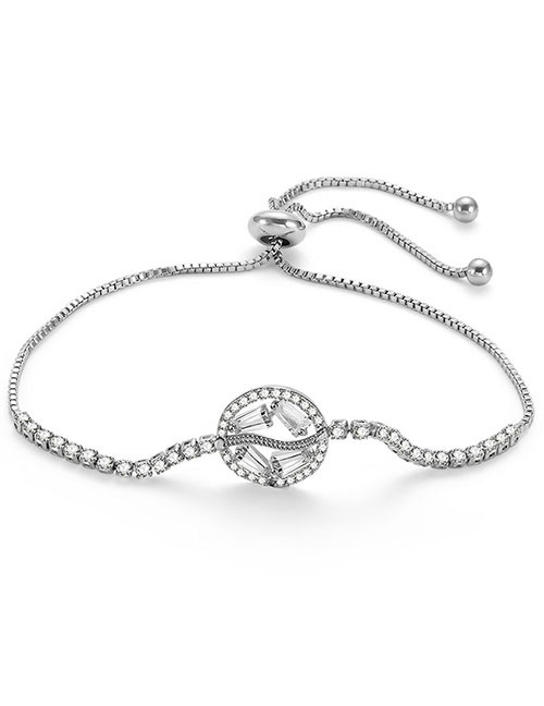 Fashion Silver Color Oval Shape Decorated Pure Color Bracelet