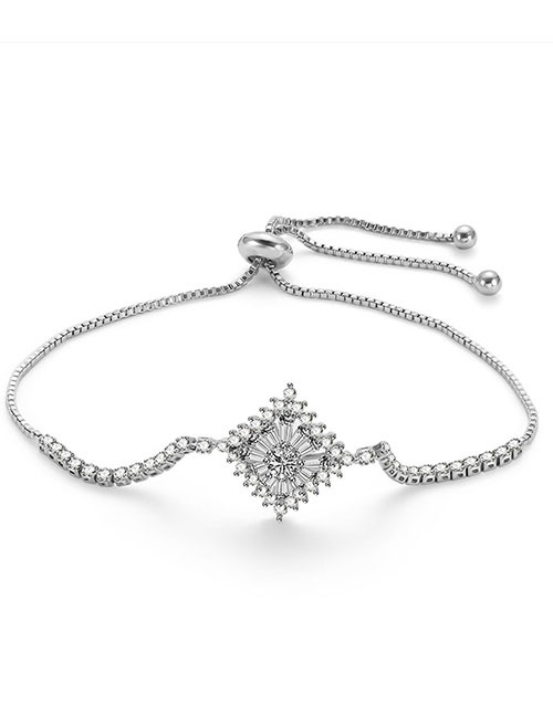 Fashion Silver Color Square Shape Decorated Pure Color Bracelet
