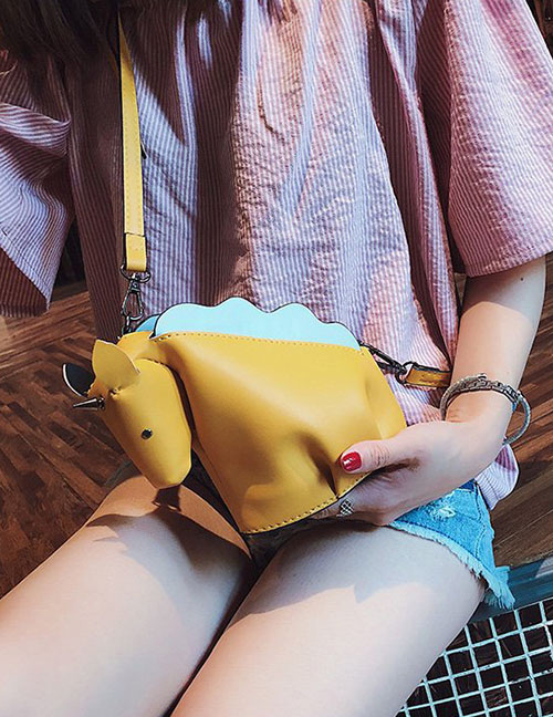 Lovely Yellow Unicorn Shape Decorated Shoulder Bag