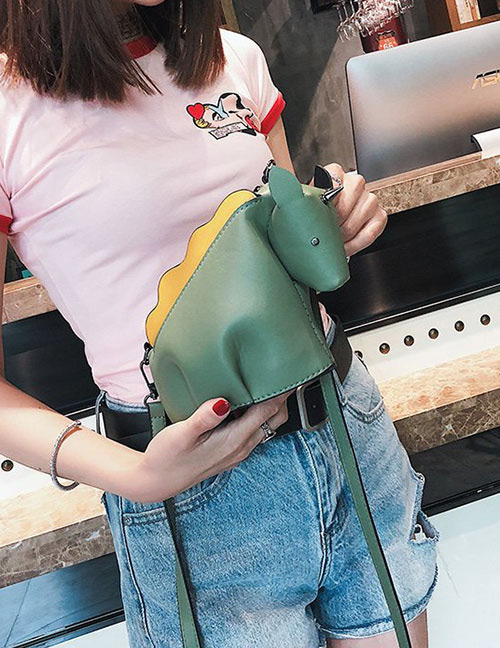 Lovely Green Unicorn Shape Decorated Shoulder Bag