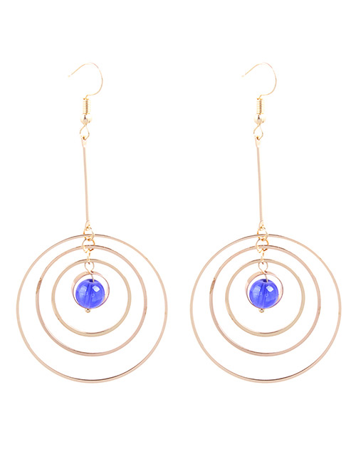 Fashion Gold Color Multi-layer Circular Ring Decorated Earrings