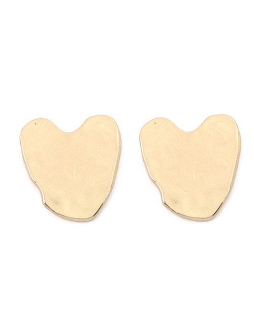 Fashion Gold Color Pure Color Design Heart Shape Earrings