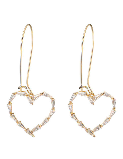 Fashion Gold Color Heart Shape Design Pure Color Earrings