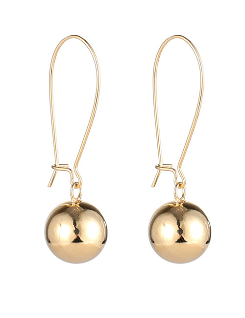 Fashion Gold Color Balls Decorated Pure Color Earrings
