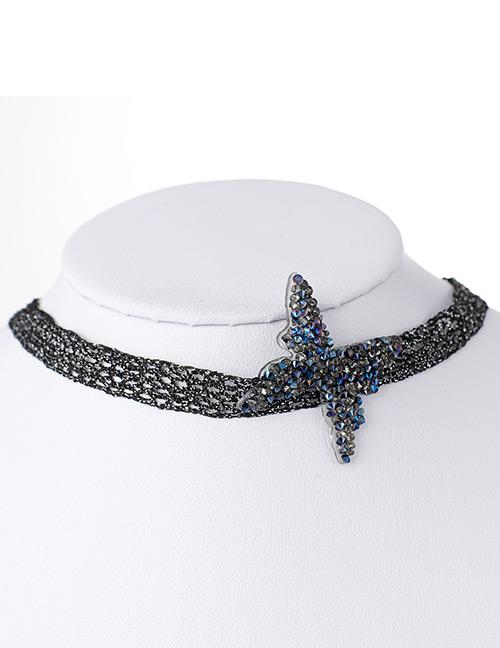 Fashion Blue Butterfly Shape Decorated Choker