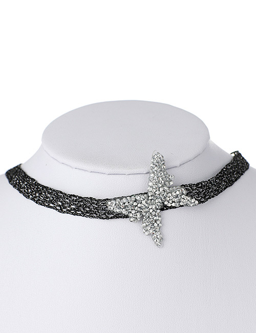 Fashion White Butterfly Shape Decorated Choker