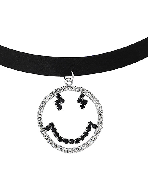 Fashion Silver Color Smiling Face Decorated Simple Choker