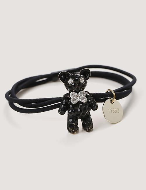 Sweet Black Bear Pendant Decorated Hair Band