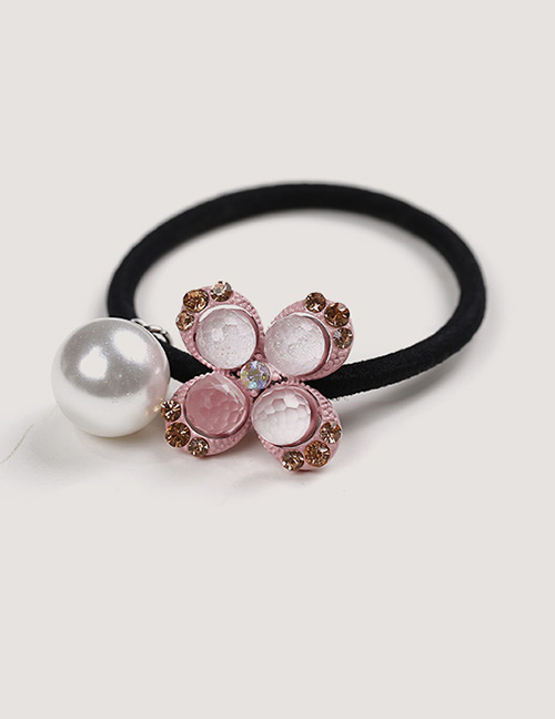 Sweet Pink Pearls&flower Decorated Hair Band