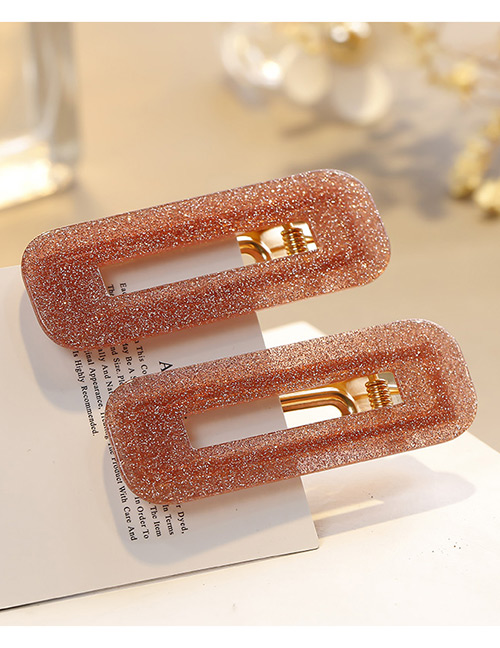 Sweet Pink Square Shape Design Hair Clip(1pairs)