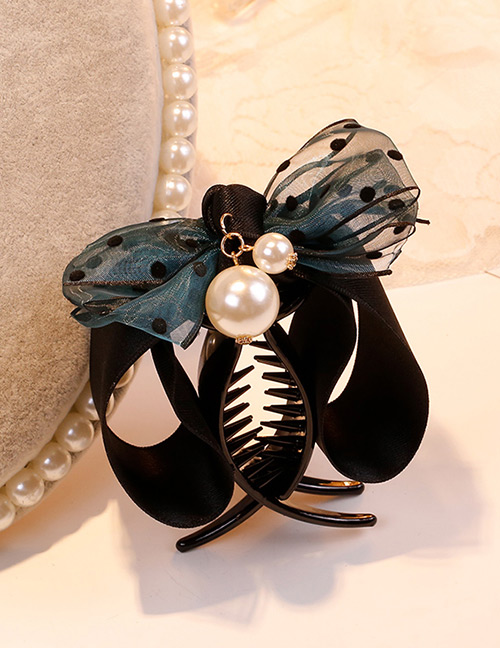 Sweet Blue Bowknot&pearls Decorated Hair Claw