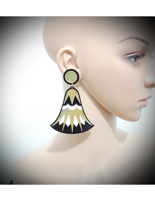 Fashion Gold Color Bell Shape Decorated Simple Earrings