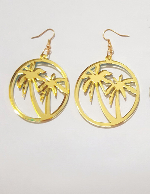 Fashion Gold Color Coconut Tree Shape Decorated Earrings