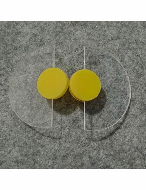 Fashion Yellow Semicircle Shape Decorated Earrings