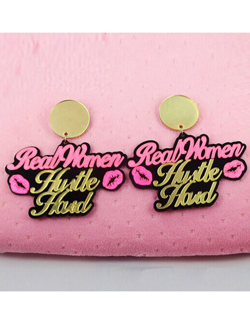 Fashion Multi-color Letter Shape Decorated Earrings