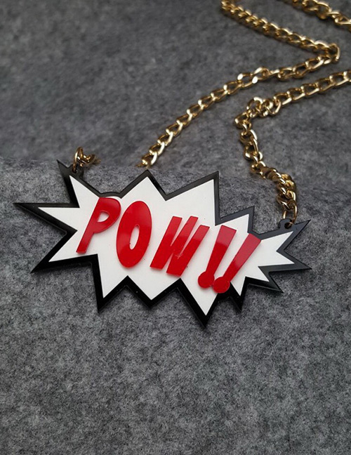 Fashion Red Letter Shape Decorated Necklace