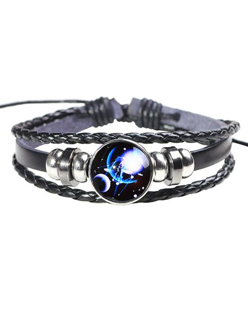 Fashion Black+blue Libra Pattern Decorated Noctilucent Bracelet