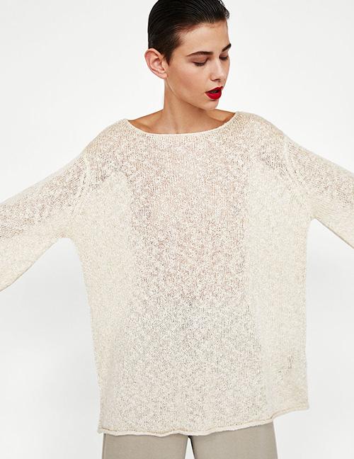 Fashion White Pure Color Decorated Blouse