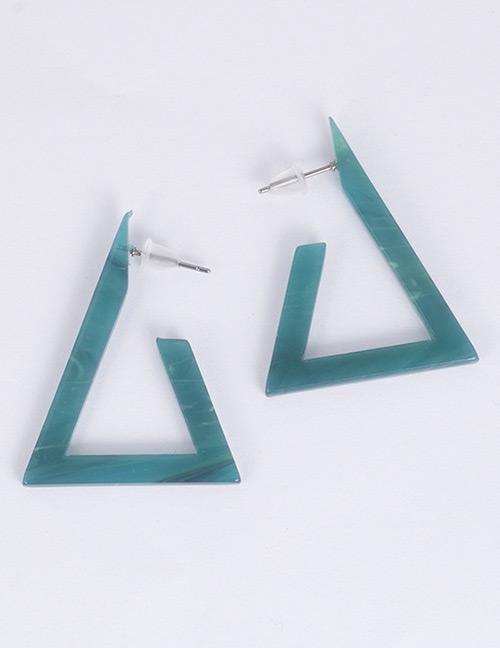 Fashion Blue Triangle Shape Design Earrings
