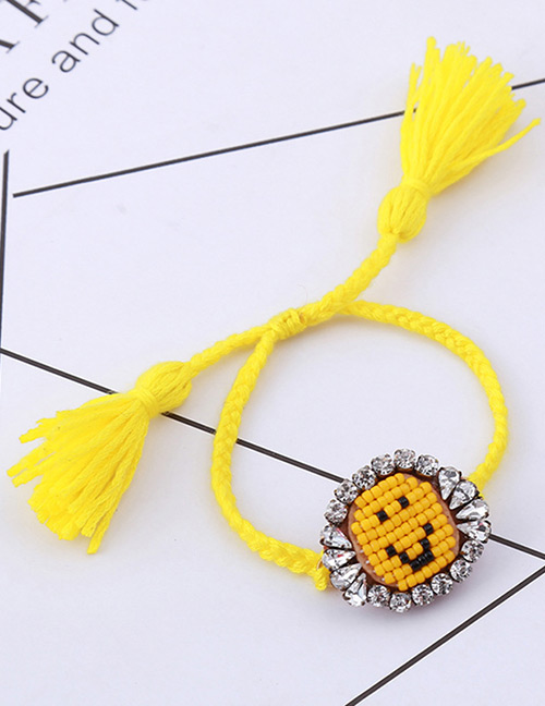 Fashion Yellow Face Pattern Decorated Bracelet