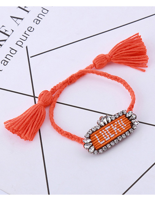 Fashion Orange Letter Pattern Decorated Bracelet