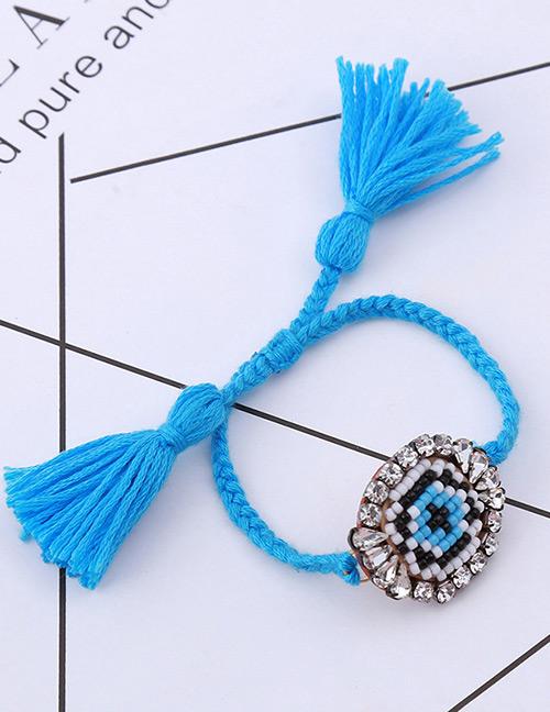 Fashion Blue Cross Pattern Decorated Bracelet